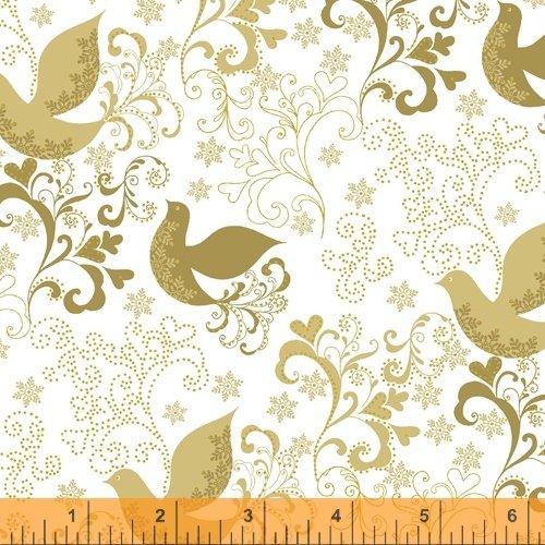 Holiday Village Song Birds w/Metallic Gold