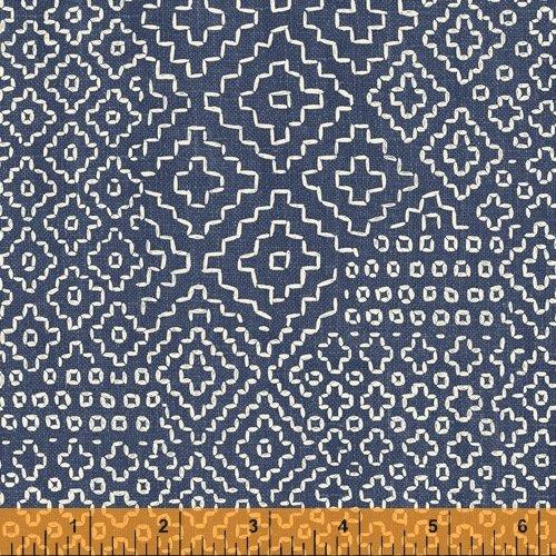 Sashiko Stitch Sampler Denim