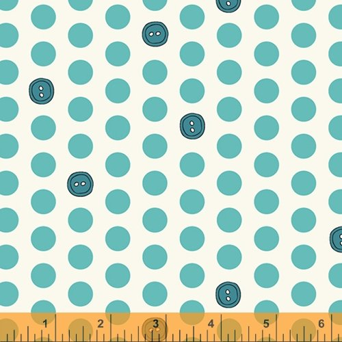 Bubbies Buttons & Blooms Polka Dot Buttons Turquoise Icing