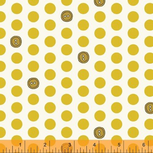 Bubbies Buttons & Blooms Polka Dot Buttons Dijon
