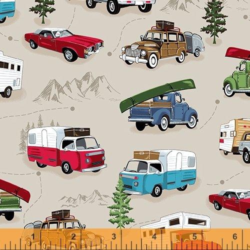 American Road Trip Vehicles Khaki