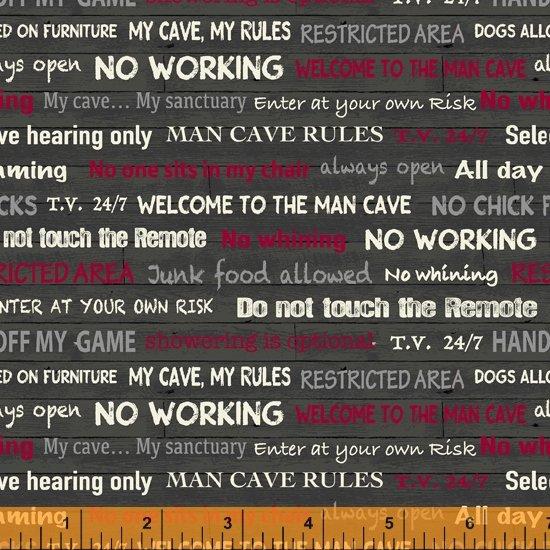 Man Cave Rules Dk. Gray