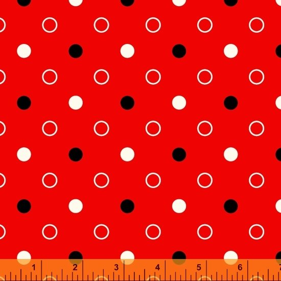 Dot Dot Dot Mixed Dot Red