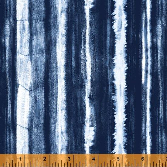 Indigo Dyed Striped Dark
