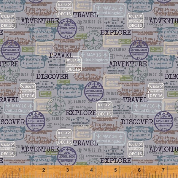 Discover Passport Stamps Gray