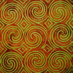 Batik by Mirah Carousel Apricot-Tan