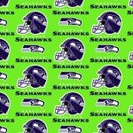NFL Seattle Seahawks 60 wide - Green Helmets