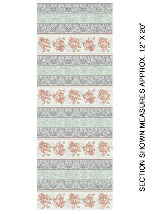 Grandeur Rose Stripe Rose/Multi - COMING SOON