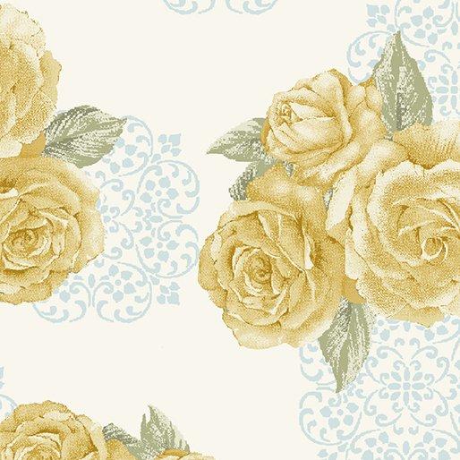 Grandeur Rose Bouquet Cream/Yellow