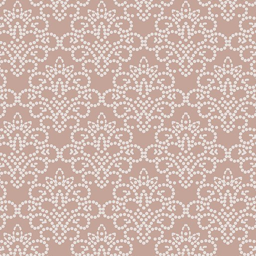 Grandeur Rose Dotted Damask Pale Rose - COMING SOON