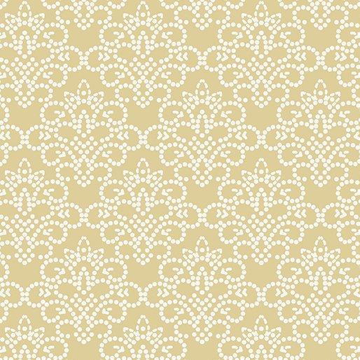 Grandeur Rose Dotted Damask Pale Yellow