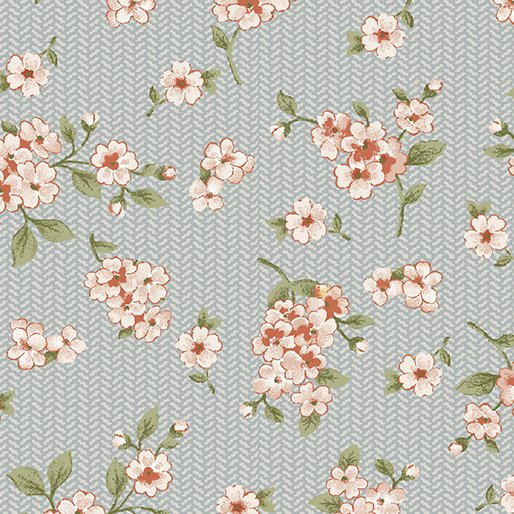 Grandeur Rose Petite Floral Gray/Rose