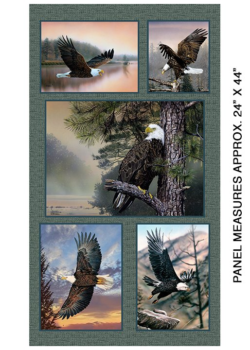 Soaring Heights Eagle Panel ~(24x44)