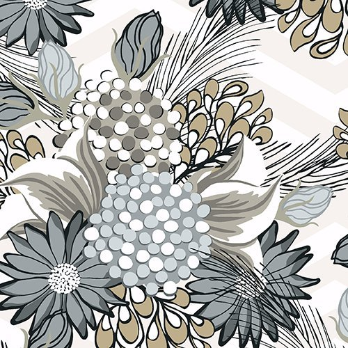 Bel Air - Large Floral Taupe