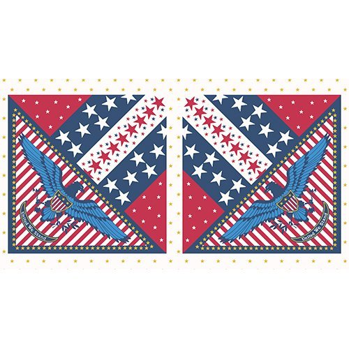 Patriotic - Eagle Panel (~24x44)