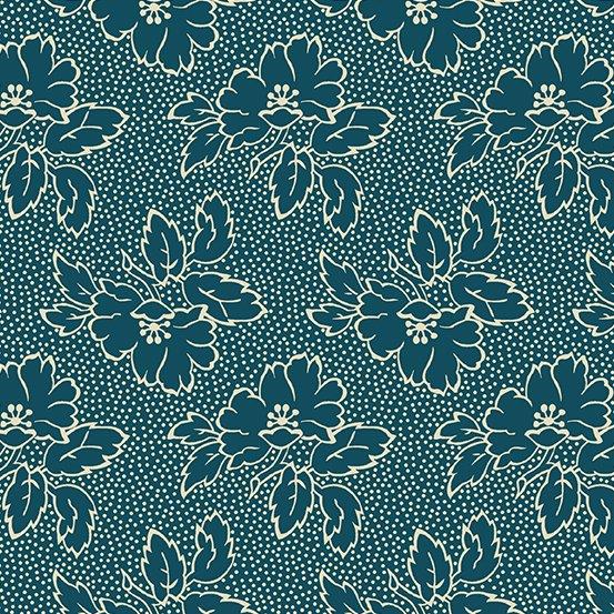 Secret Stash Cool Tones Silhouette Floral Tea Blue