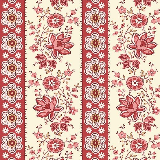 Sweet 16 Floral Stripe Red