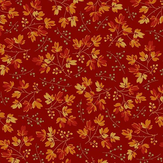 Acorn Harvest Scattered Branches Crimson
