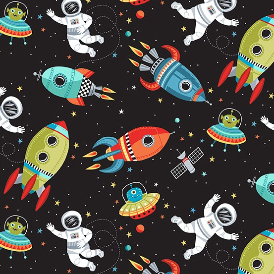 Outer Space Scene Black