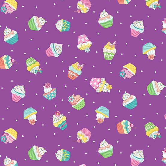 Daydream Cupcakes Purple