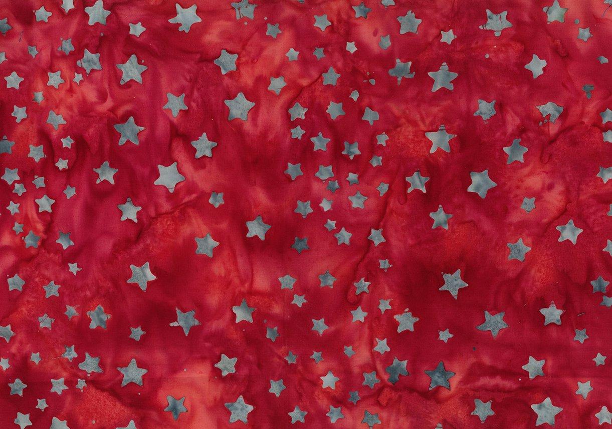Bandana Batik Stars Red