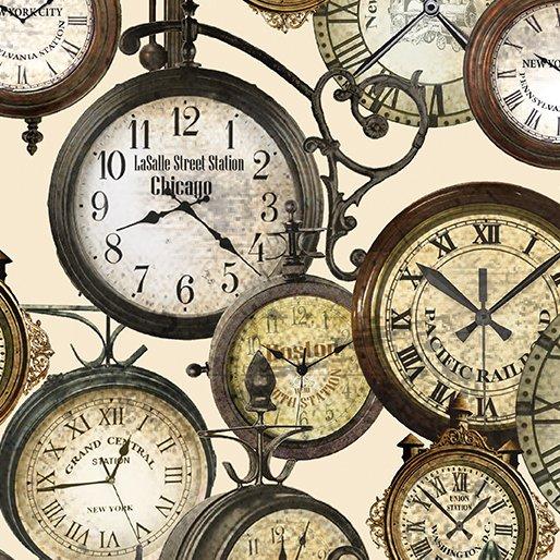 Railway Express - Station Clocks Cream