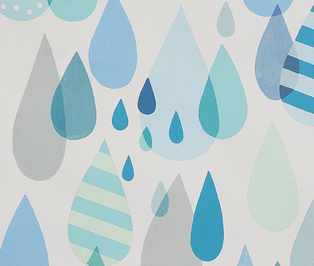 Boardwalk Raindrops Blue