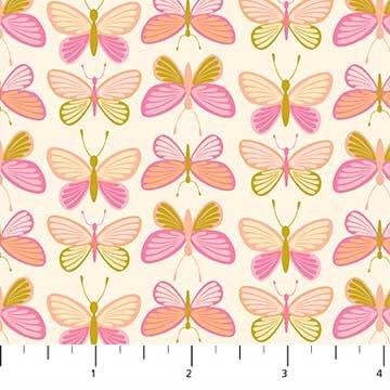 Mountain Meadow Butterflies Pink