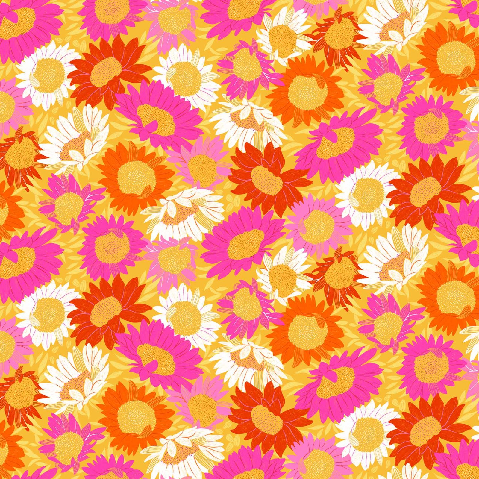Flora Sunflowers Pink/Orange