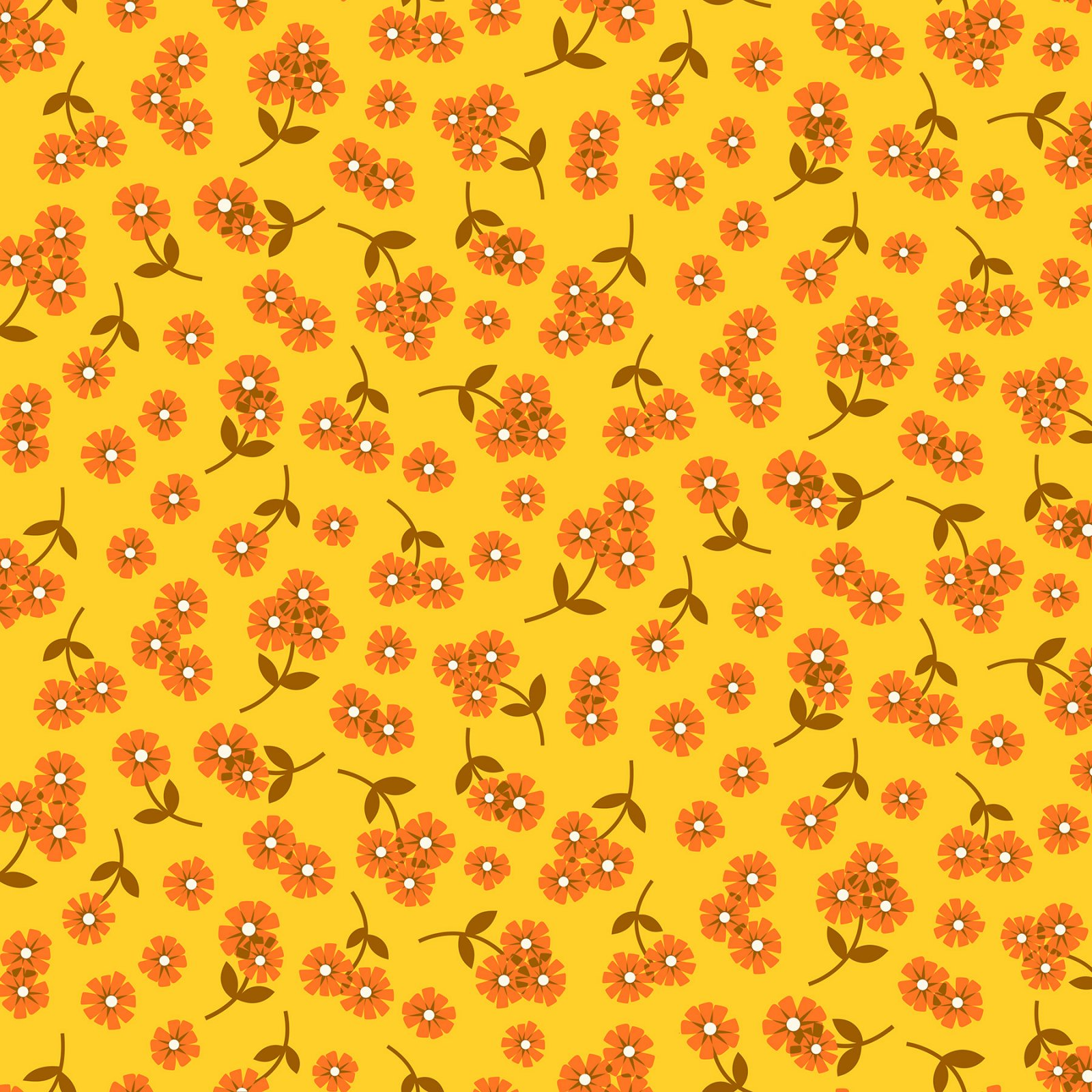 Butterscotch Daisies Yellow
