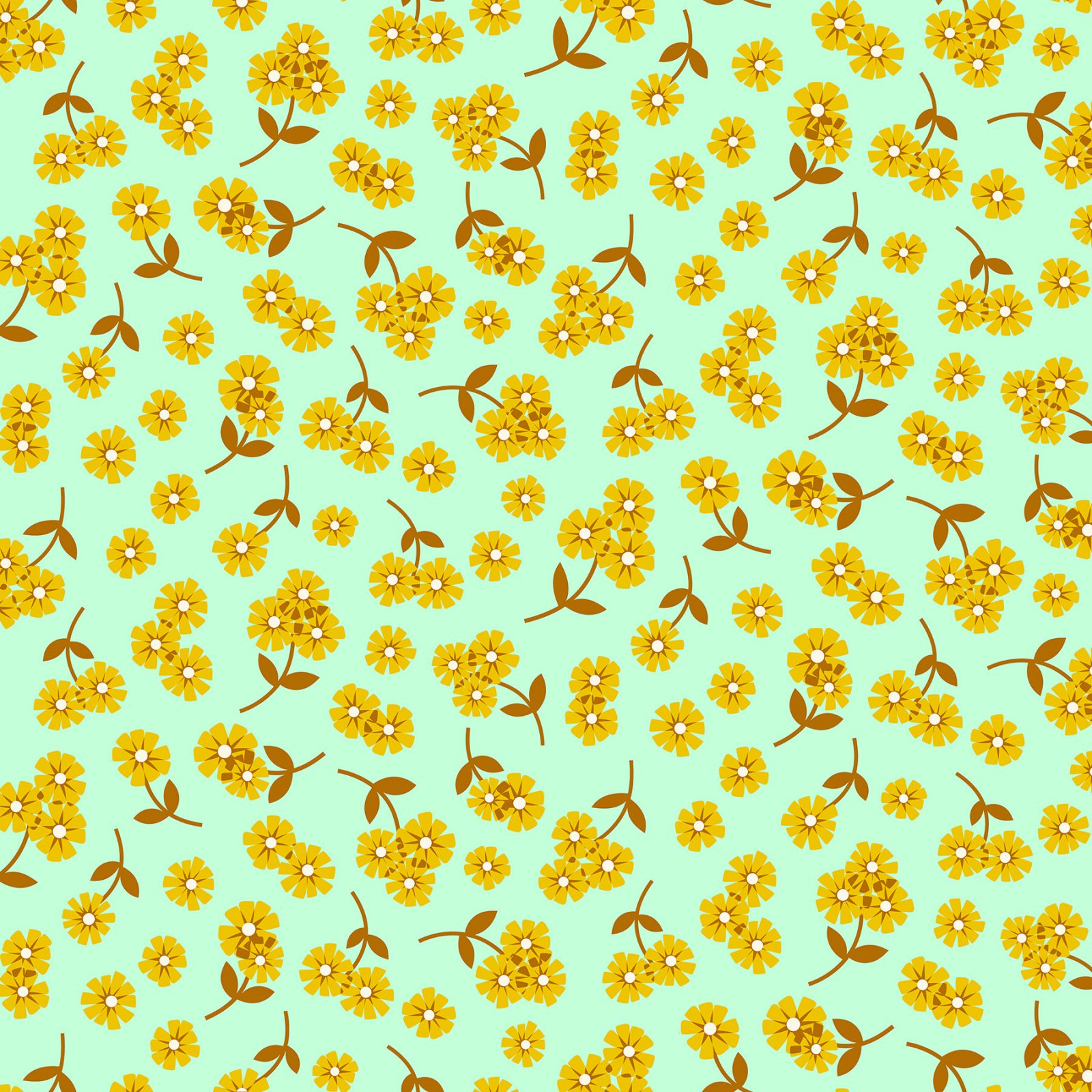 Butterscotch Daisies Lt. Aqua