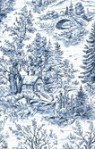 Woodland Forest - Toile Blue