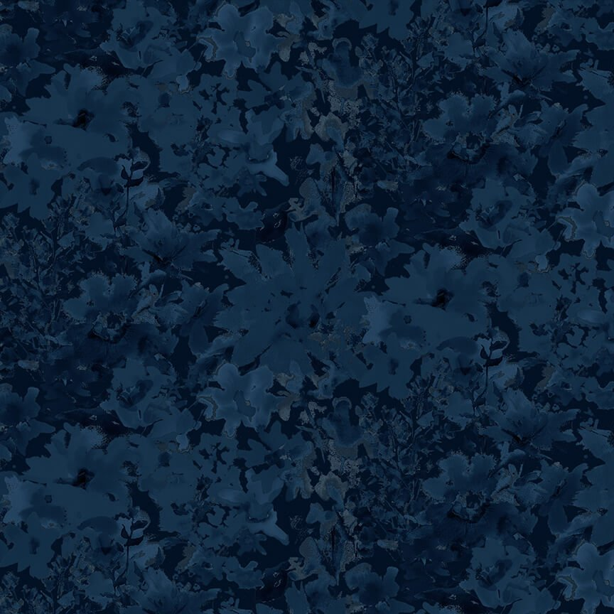 Midnight Sapphire Textured Allover Navy