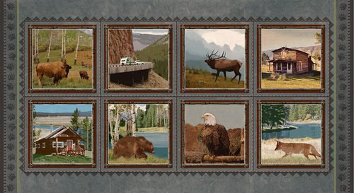 Yellowstone 8 Block Panel (24x44) #129