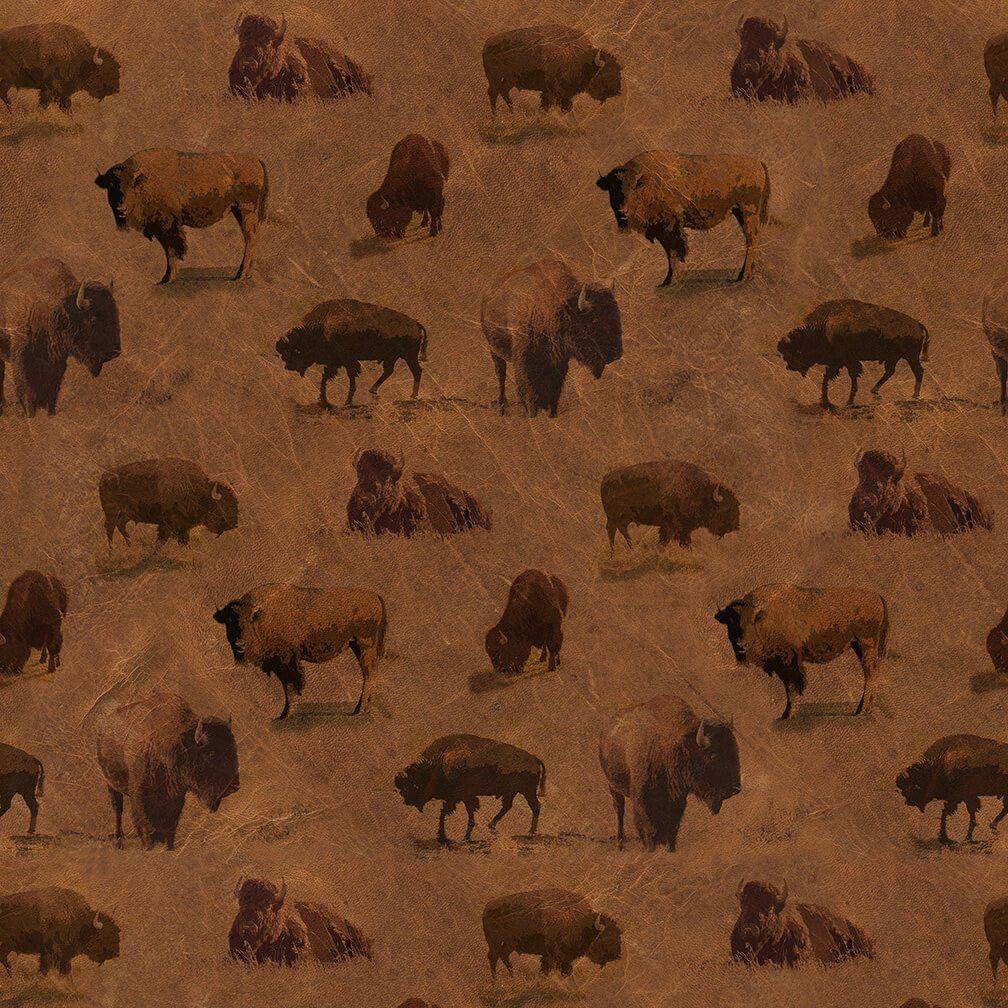 Yellowstone Buffalo Allover Brown