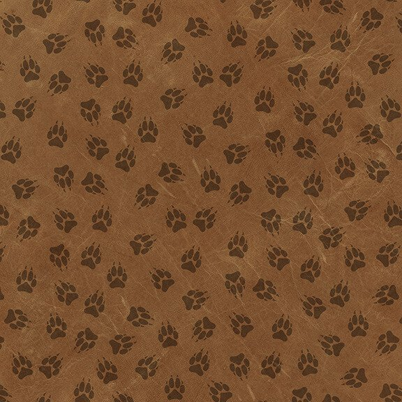 Yellowstone Paw Print Allover Rust