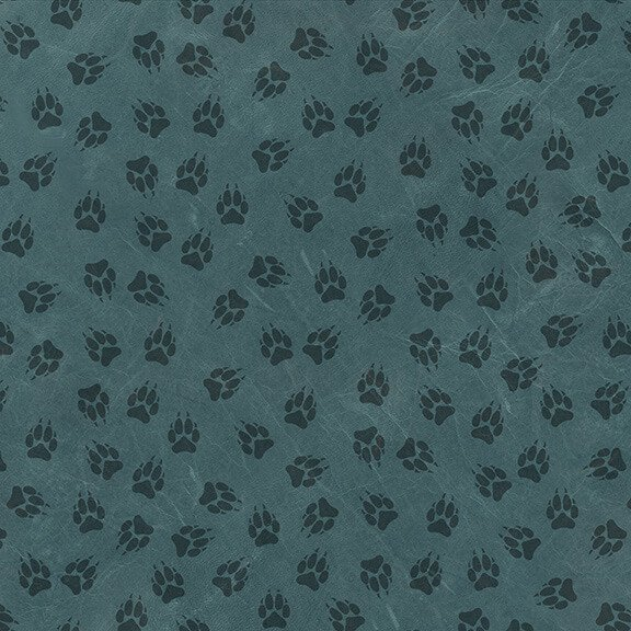 Yellowstone Paw Print Allover Teal