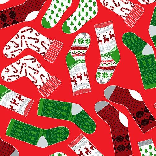 Keeping Cozy Cozy Socks Red