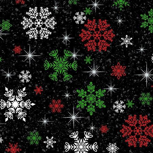 Keeping Cozy Snowflake Wishes Black