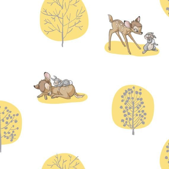 Bambi - Forest Scene - Yellow
