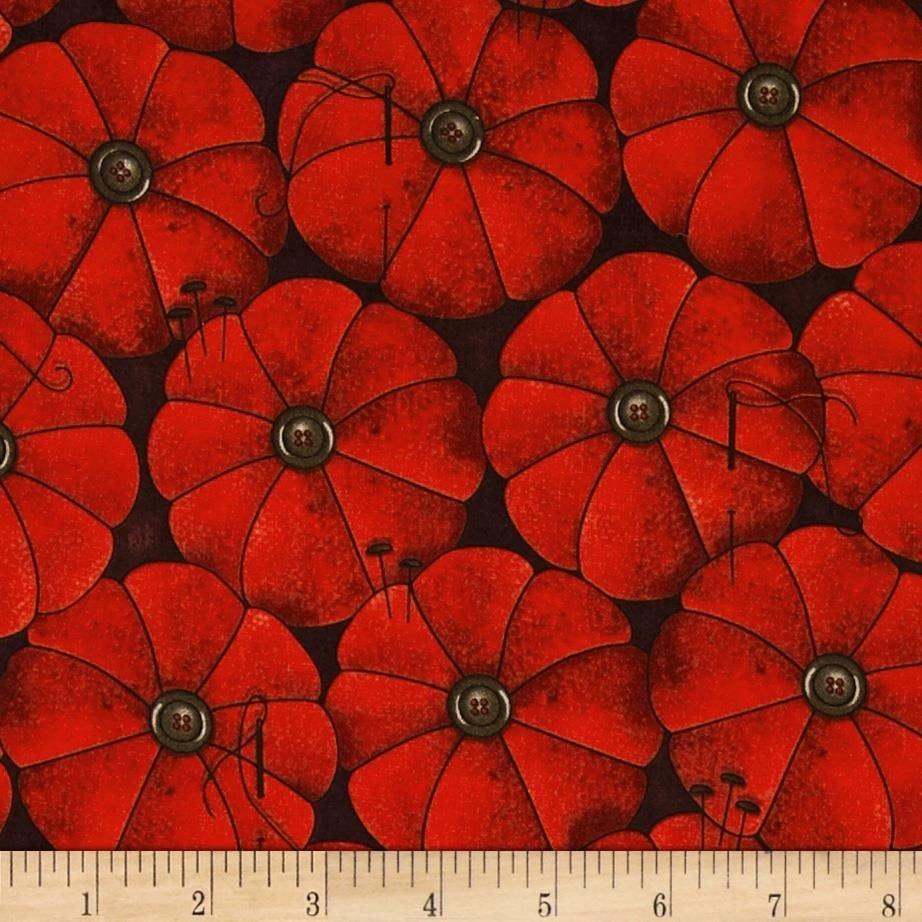 She Who Sews Red Pin Cushion