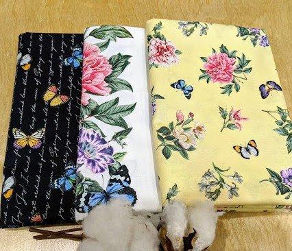 3 Yard Quilt Kit - Botanica Butterflies