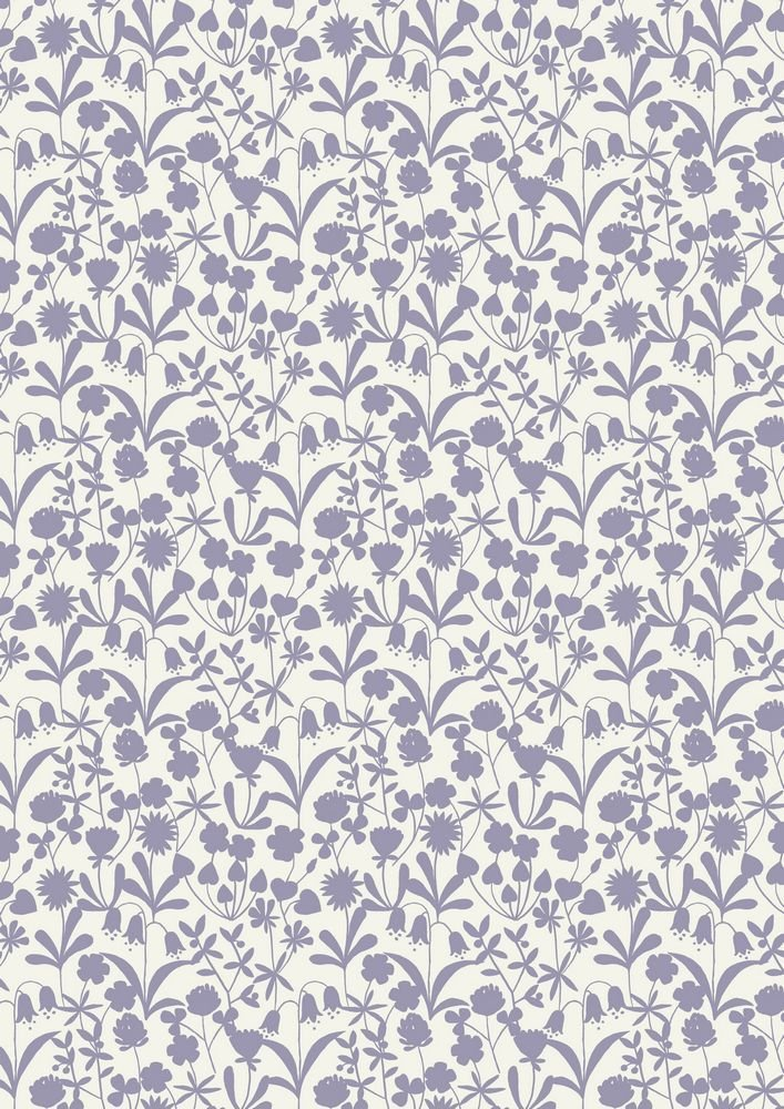 Bluebell Wood Lavender Floral Silhouette