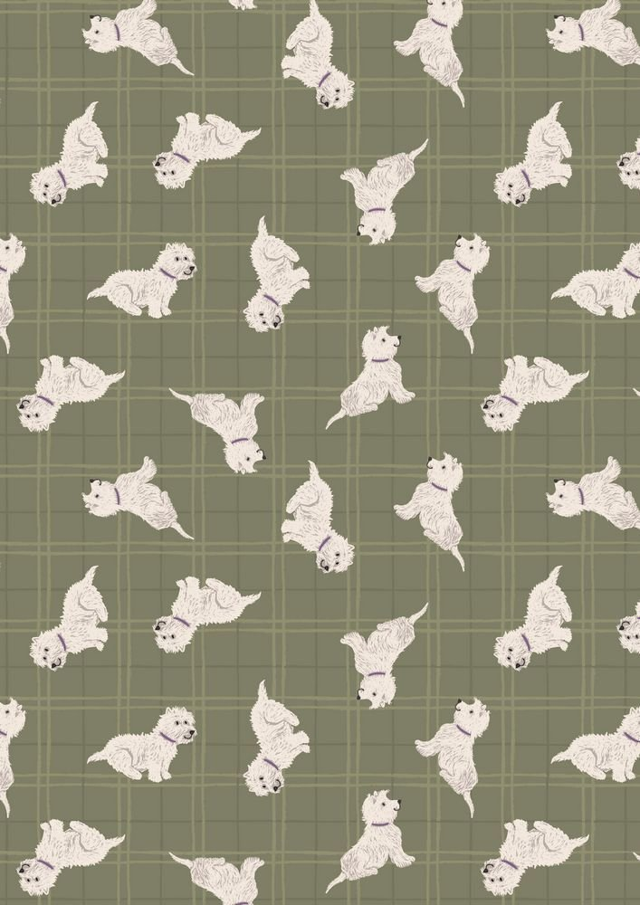 Walk in the Glen Tumbled Westies On Olive Check