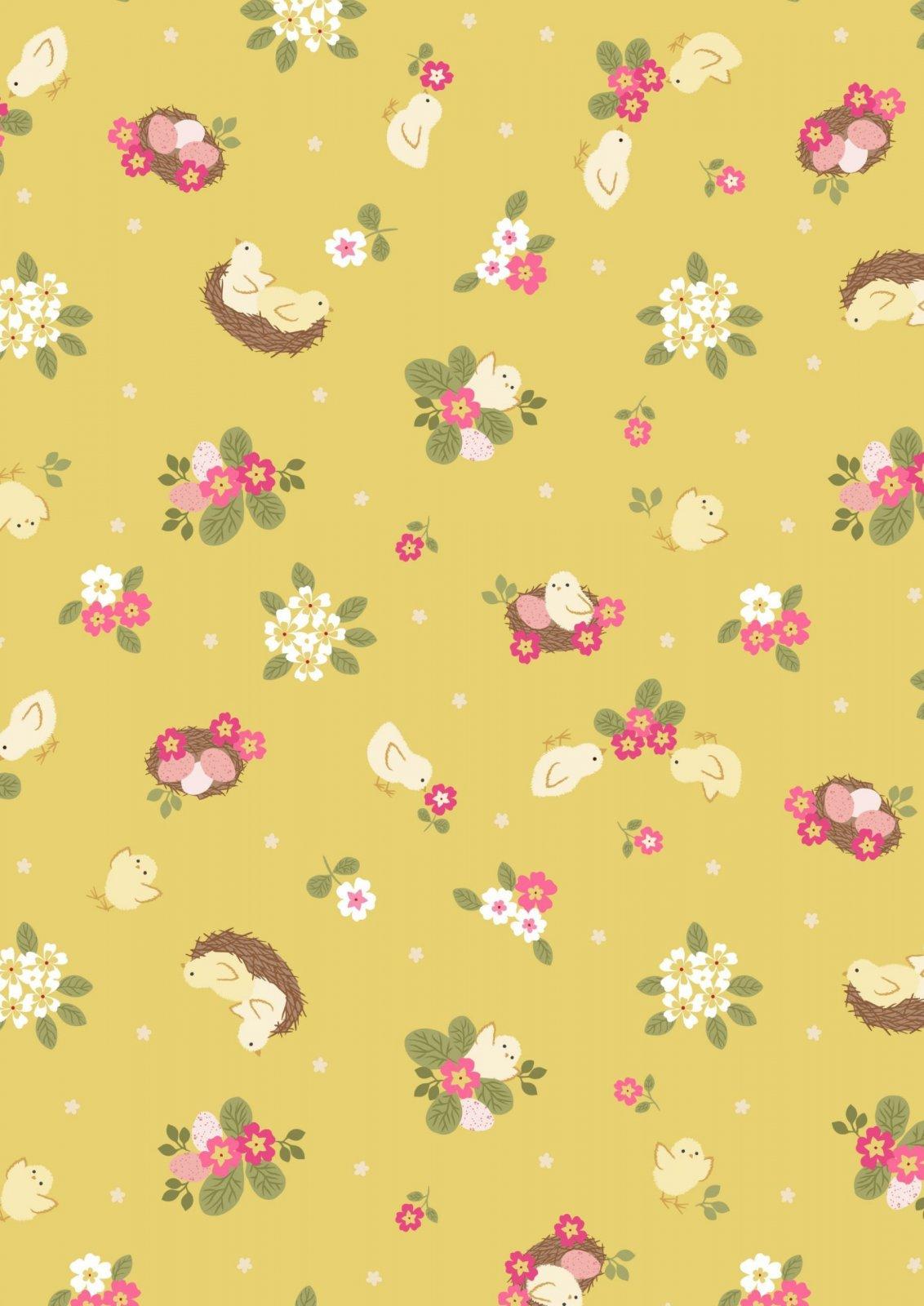 Bunny Hop Chicks on Yellow