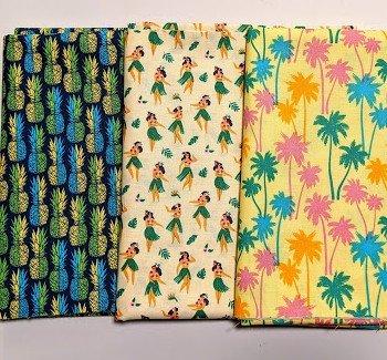 3 Yard Quilt Kit (FABRIC ONLY) - Aloha Hula Girls