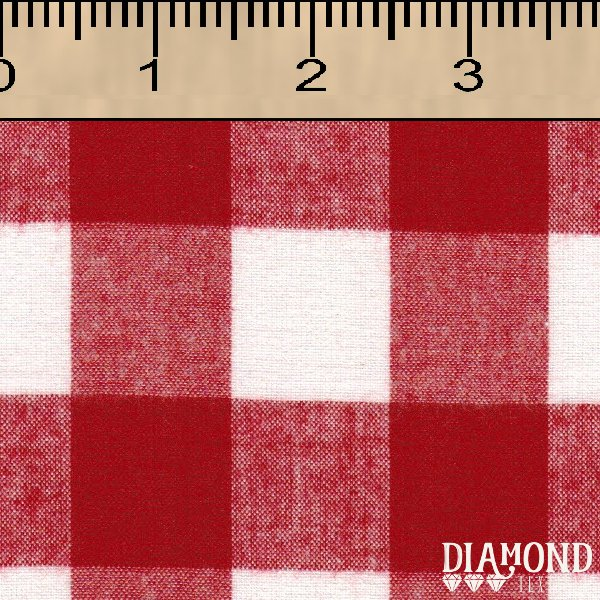 Aunt Polly Brushed Red/White Buffalo Check
