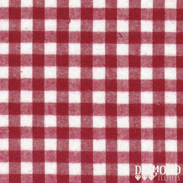 Aunt Polly Brushed Garnet/White Check