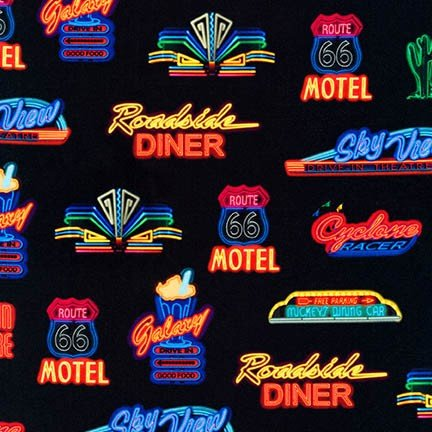 On the Road Neon Signs RETRO