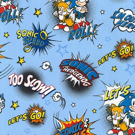 Sonic Characters/Stars Lt. Blue